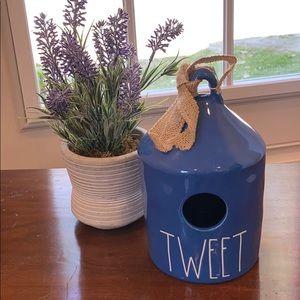 "Rae Dunn New Blue Birdhouse ""Tweet"" by Magenta."